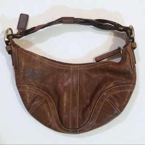 Coach : Brown Leather Hobo Bag